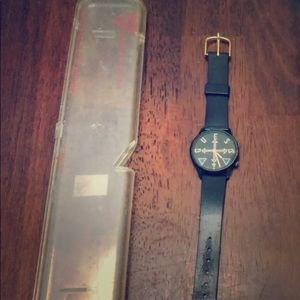 Extremely rare black Guess watch leather band